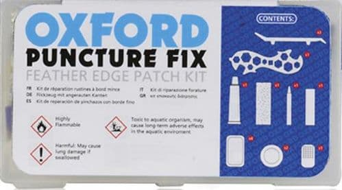 Oxford Puncture Fix Repair Kit, With Feather Edge Patches & Tools. CK102