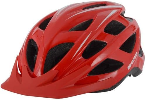 Oxford Talon Adult's Cycle Helmet, Red, 2 Sizes Available