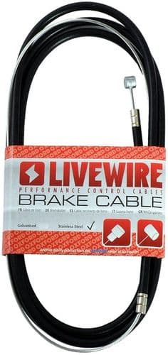 Oxford Universal Brake Cable, With Inner & Outer Cable, Barrel/Pear Nipple Front/Rear. CC404