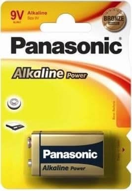Panasonic 9 Volt Alkaline Special Power Batteries, Pack of 1, 6LR61