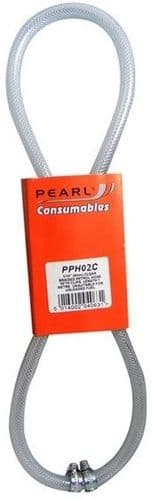 Pearl PVC Fuel Hose 1 Metre With Hose Clips. 2 Sizes Available