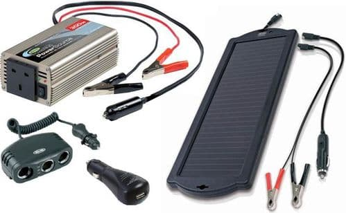 Power Inverters, Solar Chargers & Multi Sockets