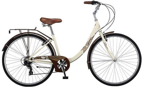 Probike City Discovery Step Through Bike. Cream. 2 Frame Sizes Available
