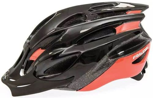 Raleigh Mission Evo Cycle Helmet, Black & Red, 2 Sizes Available