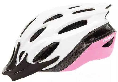 Raleigh Mission Evo Cycle Helmet, Pink & White, 2 Sizes Available