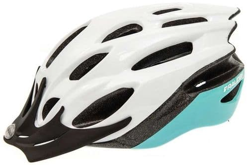 Raleigh Mission Evo Cycle Helmet, White & Mint, 2 Sizes Available