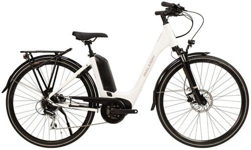 Raleigh Motus Tour Bosch Powered Derailleur Low Step Electric Bike White, 3 Sizes Available
