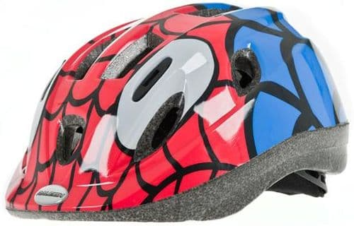 Raleigh Mystery Junior Spider Red & Blue Helmet. 2 Sizes Available