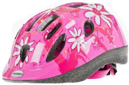 Raleigh Mystery Pink Flower Junior Helmet, 2 Sizes Available