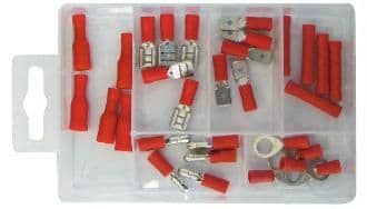 Red Insulated Terminals Assorted Pack. PMA110
