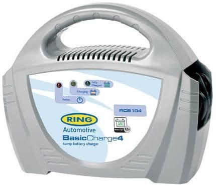Ring Basic Charge 4, 12v, 4 amp Battery Charger. RCB104