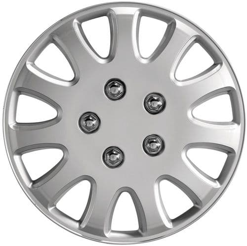 """Ring Ikon Wheel Trims, Modern Design Covers Available For 13"""" & 14"""" Wheels, Set Of Four"""