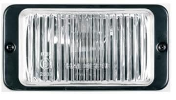 Ring Microline Rectangular Lamps With White Covers, Available In Driving Or Fog