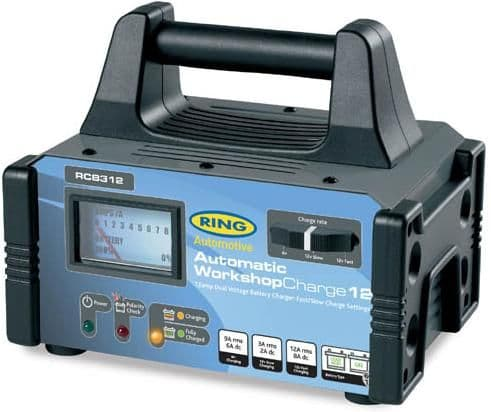 Ring Workshop Charge 12, 6v and 12v, 12 Amp Fully Automatic Battery Charger. RCB312