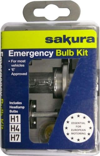 Sakura Universal Bulb Kit, Suitable For Vehicles Fitted With H4, H1 or H7 Headlamp Bulbs HG079-00