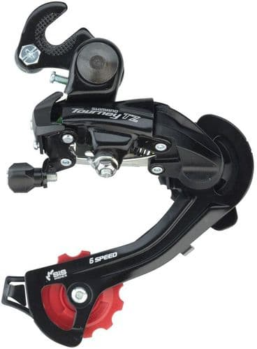 Shimano RD-TZ500 6-Speed Rear Derailleur With Mounting Bracket.  RDTZ500GSB