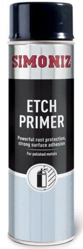 Simoniz Aerosol Etch Primer, Ideal For Use On Aluminium & Zinc. 500ml. SIMP09D