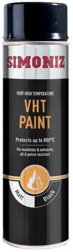 Simoniz VHT Extreme Heat Spray Paint 500ml. 4 Colours Available