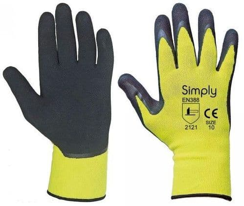 Simply Precision Gloves Latex Polyester Foam, Available 3 Sizes