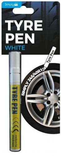 Simply White Tyre Pen. TV02