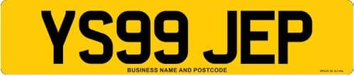Standard Car Replacement Number Plates Made At Whiteheads While You Wait