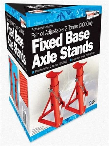 Streetwize 2 Tonne Fixed Base Axle Stands. SW2TAS