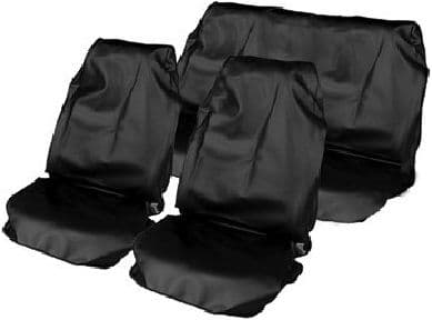 Streetwize Heavy Duty Waterproof Seat Protectors, 2 Front & 1 Rear.  Black Full Set. HDWS