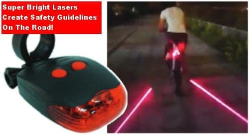 Streetwize Rear LED Cycle Light with Laser Road Guidelines. SWCA14