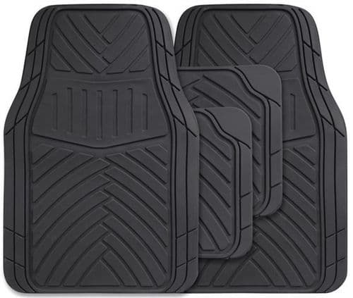 Streetwize Splendour Rubber Mat Set in Black, SWCM103