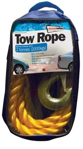 Streetwize Tow Rope Up To 2 Tonne. SWTR20