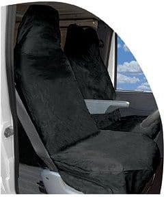 Streetwize Universal Van Heavy Duty Waterproof Nylon Front Pair Seat Protectors, Black or Grey