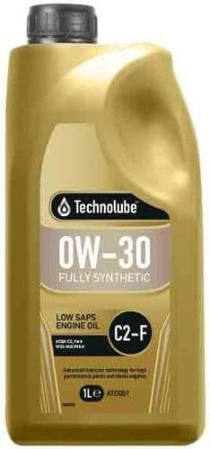 Technolube 0W30 Fully Synthetic C2-F Ford Motor Oil. 1 Litre & 5 Litre Available