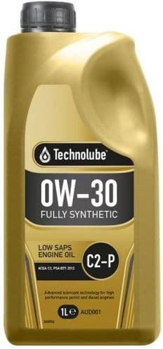 Technolube 0W30 Fully Synthetic C2-P Peugeot Motor Oil. 1 Litre & 5 Litre Available