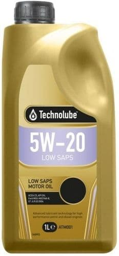 Technolube 5W20 Ford Fully Synthetic Motor Oil. 1 Litre & 5 Litre Available