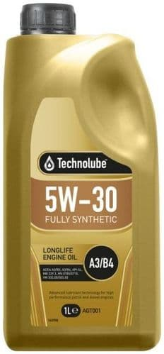 Technolube 5W30 GM A3/B4 Fully Synthetic Longlife Motor Oil.  1 Litre  2 Litre & 5 Litre Available