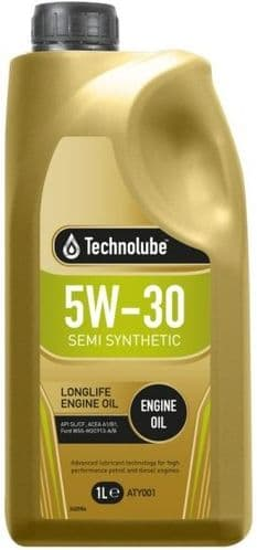 Technolube 5W30 Semi Synthetic  Motor Oil. 1 Litre 2 Litre & 5 Litre Available