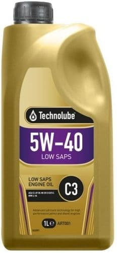 Technolube 5W40 PD Fully Synthetic Low SAPS Motor Oil. 1 Litre & 5 Litre Available