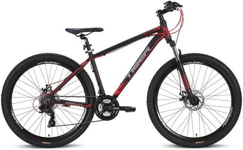 Tiger Ace 27.5 V2  Hardtail Off Road Bike Black & Red, 3 Frame Sizes Available
