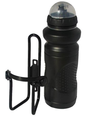 Tiger Deluxe Black Water Bottle & Alloy Cage. TG8013B