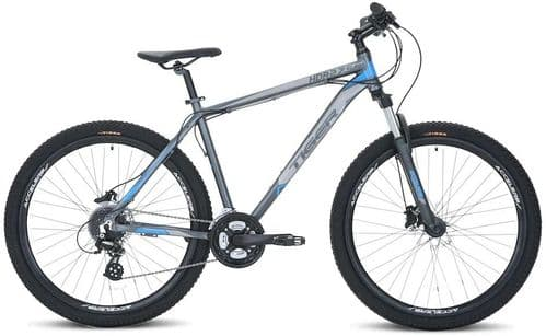 Tiger HDR 27.5 V2  Hardtail Off Road Bike Grey & Blue, 3 Frame Sizes Available