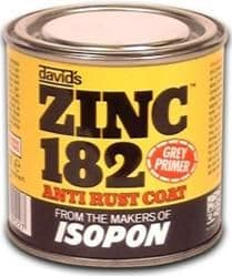 U-pol David's Isopon Zinc 182 Anti Rust Coat, Grey Primer, 250ml. Z182S