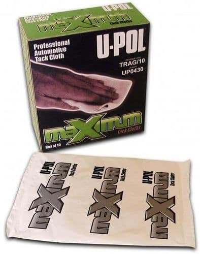 U-pol High Performance Tack Cloth, Tack Rags, Box of 10. TRAG/10