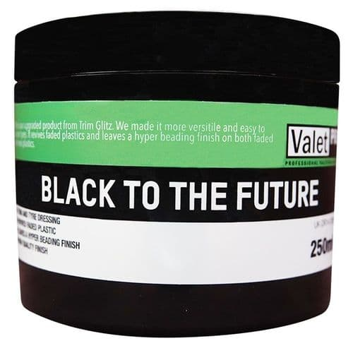 ValetPRO Black To The Future Trim And Tyre Dressing 250ml. DR14-250ML