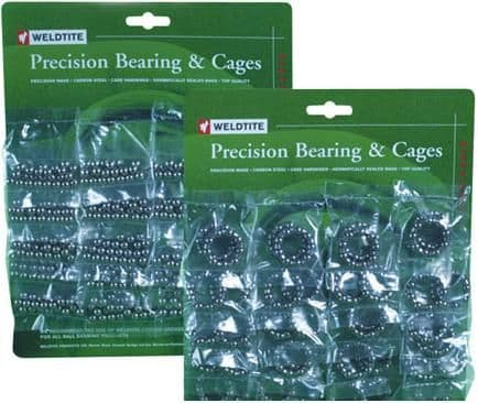 Weldtite Presision Ball Bearings & Cages, 7 Sizes Available