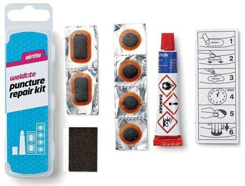 Weldtite Puncture Repair Kit, With Taper Edge Patches. 01016