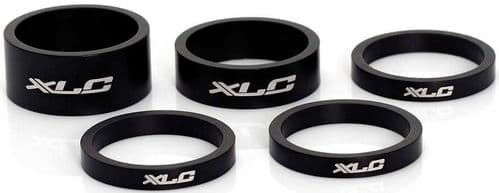 XLC Alloy Spacers Set Of 5, 1 X 15mm 1 X 10mm 3 X 5mm. ASA02Z